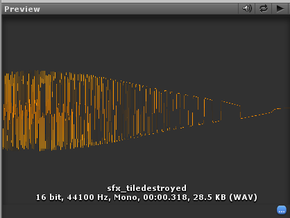 Sound effect imported into Unity