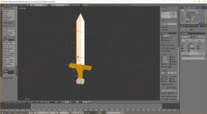 Sword in Blender